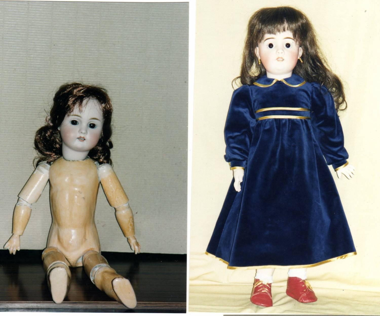 Реставрация антикварных кукол своими руками 25